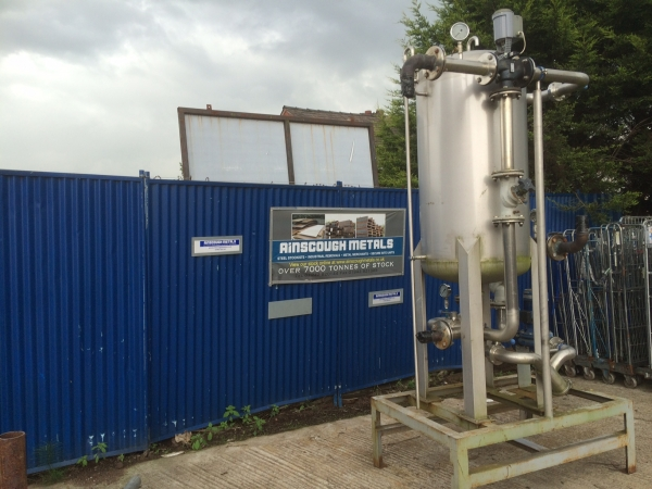 Used 600 Ltr Glycol Stainless Steel Reservoir - O/a Height 3.000mtr - Tank 2.5mtr x 720mm