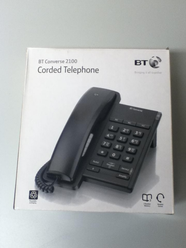New bt Converse 2100 Corded Telephone Black